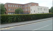 SN7634 : NE corner of Llandovery College by Jaggery