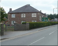 SN7634 : Llandovery College building at New Road entrance by Jaggery