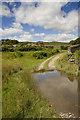 SD3188 : Flood on the track to High Ickenthwaite by Tom Richardson