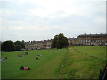 ST7465 : Houses on Marlborough Buildings, viewed from Royal Crescent by Robert Lamb