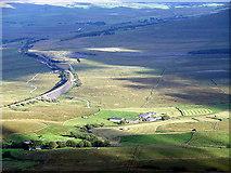 SD7579 : Gunnerfleet Farm viewed from the summit of Whernside by John Lucas