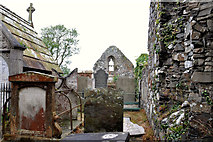 J5074 : Ruined church, Movilla Abbey, Newtownards (2) by Albert Bridge