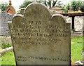 J5074 : Headstone, Movilla Abbey,  Newtownards (1) by Albert Bridge