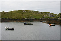 NG2195 : Boats on a lagoon, Aird na Cille, Scalpay (Sgalpaigh) by Mike Pennington