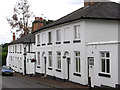 SK3538 : Darley Abbey - white houses on New Road by Dave Bevis