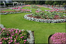 TQ1876 : Flowerbeds by the Palm House, Kew Gardens by Bill Boaden