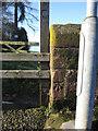 SJ4154 : Bench mark on Holt/Farndon Bridge by John S Turner