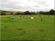 SU1872 : Dog agility course, Ogbourne St Andrew by Maigheach-gheal