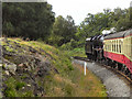 SE8498 : North Yorkshire Moors Railway, Goathland Summit by David Dixon
