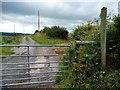 SO3078 : Gated track heading westwards by Christine Johnstone