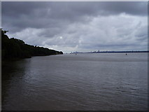 SJ3681 : The Mersey from Eastham jetty by Eirian Evans