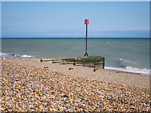TQ7306 : Outfall on Bexhill Beach by Oast House Archive