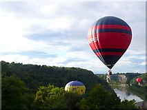 ST5673 : Hotair balloons in the Avon Gorge by Nigel Mykura