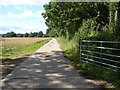 SO5475 : Concrete track off Squirrel Lane by Christine Johnstone
