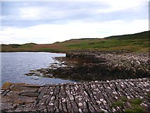 NR6880 : Old pier and slipway, Keillmore by Gordon Hatton