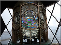 NZ3575 : Whitley Bay: the light in St. Mary's lighthouse by Chris Downer