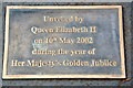 SU8486 : Plaque on Statue of Sir Steve Redgrave, Marlow, Buckinghamshire by Christine Matthews