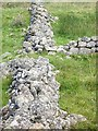 NO6491 : Detail of a dry stone wall junction by Stanley Howe