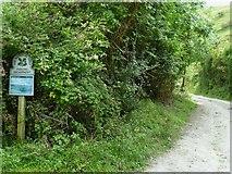 TQ2411 : National Trust notice by path on Fulking Escarpment by Shazz