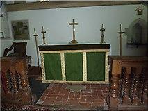 SU5846 : Dummer - All Saints Church: altar by Basher Eyre