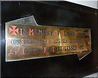 SU5846 : Dummer - All Saints Church: memorial (g) by Basher Eyre