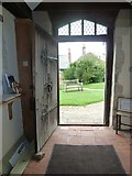SU5846 : Dummer - All Saints Church: looking out of the west door by Basher Eyre