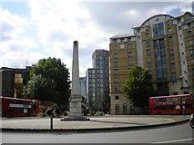 TQ3179 : Obelisk, St George's Circus SE1 by Robin Sones