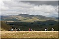 NX5091 : Walking in the North Galloway Hills by Walter Baxter
