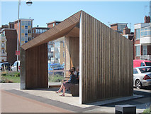 TQ7307 : New shelter along West Parade by Oast House Archive