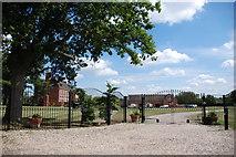 SJ8417 : Through Gates to Large Mansion by Mick Malpass