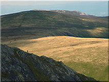 NY3228 : A lone walker ascends Sharp Edge by Karl and Ali