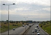 SJ9299 : Crossing M60 at Ashton under Lyne by John Firth