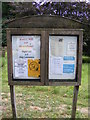 TM3174 : St.Mary's Church, Cratfield Notice Board by Adrian Cable