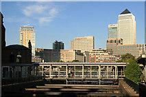 TQ3680 : Bridge over slipway, Nelson Dock by Chris Allen