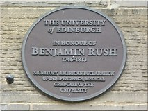 NT2572 : Benjamin Rush plaque, George Square by kim traynor