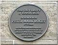 Photo of Peter Mark Roget black plaque