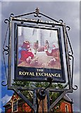 SO8483 : The Royal Exchange (2) - sign, High Street, Kinver by P L Chadwick
