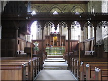 NY9650 : The Church of St. Mary The Virgin - nave by Mike Quinn