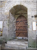 NY9650 : The Church of St. Mary The Virgin - door to the tower by Mike Quinn