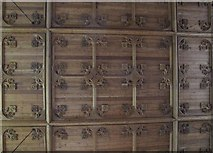 NY9650 : The Church of St. Mary The Virgin - carved ceiling by Mike Quinn