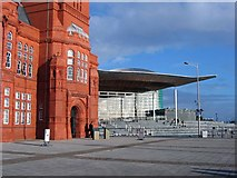 ST1974 : Victorian and modern, Cardiff Bay by Adrian Platt