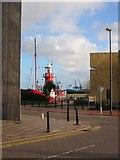 ST1974 : Helwick lightship, Cardiff Bay. by Adrian Platt