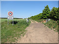 TL5948 : Roman Road at Mark's Grave by Hugh Venables