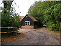 TM2551 : Footpath to Boulge Park & Entrance to Red Lodge by Adrian Cable