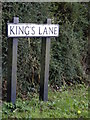 TM4186 : Kings Lane sign by Adrian Cable