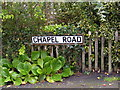 TM4575 : Chapel Road sign by Adrian Cable