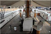 TQ7569 : Inside HMS Gannet, Chatham Historic Dockyard, Kent by Christine Matthews