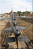 TQ7569 : Submarine Ocelot, Chatham Historic Dockyard, Kent by Christine Matthews