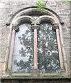 SJ8763 : St John's Church, Buglawton- Northern window by Jonathan Kington