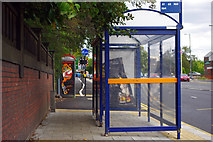 SP0583 : Bus shelter on Bristol Road, Bournbrook by Phil Champion